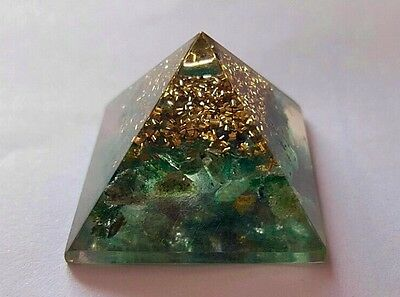 Reiki Energy Charged Natural Green Jade Orgone Pyramid Powerful Energy Generator