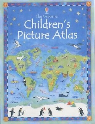The Usborne Childrens Picture Hardback Book Atlas Kids School Maps Geography NEW