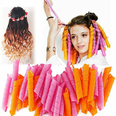 DIY 55CM Magic Leverag Hair Curlers Tool Styling Rollers Spiral Circle 40pcs