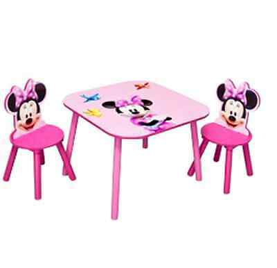 Minnie Mouse Kids Bedroom Table and Chairs Set Pink Childrens Furniture Sets NEW