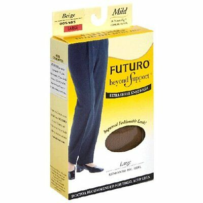 Futuro Beyond Support Ultra Sheer Knee High, Large 1 Pair
