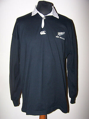 Vintage 90'Years NEW ZEALAND ALL BLACKS CANTERBURY Home Shirt (L,Large)