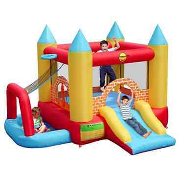 NEW Childrens 4 in 1 play centre bouncy Castle Ball Pool Slide Basketball Hoop