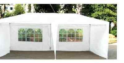 NEW 6x3m White Garden Party Tent Marquee Gazebo Weddings Parties Cover Shelter