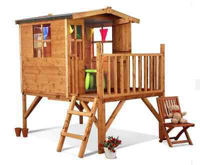 NEW BillyOh Junior Tower Playhouse 5 x 6ft Wooden Garden Wendy Houses Kids Play