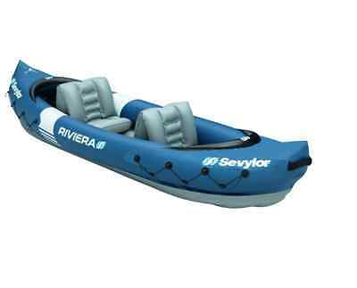 NEW Sevylor Riviera Two Person Kayak Inflatable Kayaks Canoes Sea Boat Portable