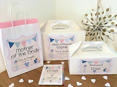Personalised Wedding Favour Childrens Activity  Gift Box Party Bag Text