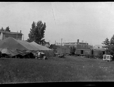 BF17 Photo Negative Belle Barchus Collection Vaudeville Theater Tent Truck Train