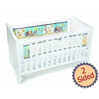 Breathable Baby 2-Sided Mesh Cot Liner - Animal 2 By 2