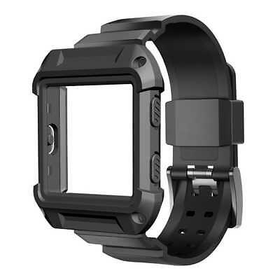 Fitbit Blaze Smart Fitness Watch Sport Band Strap and Case Large Black New