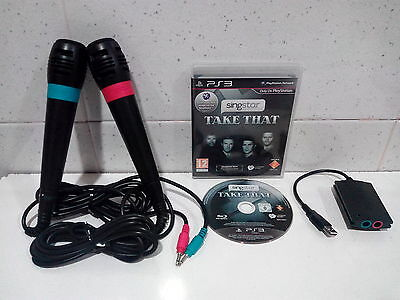 Pack Singstar - Take That - Pal UK Castellano + 2 Micros Con Cable Para PS3