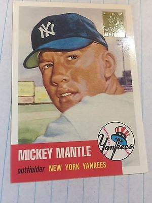 Mickey Mantle signed lithograph and 1963 Topps baseball card
