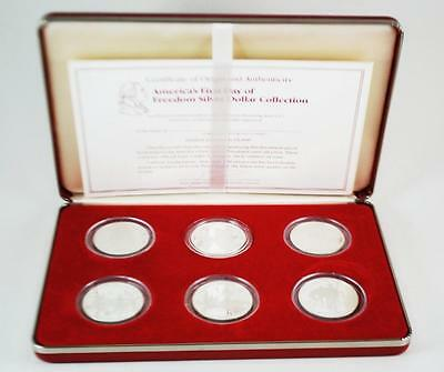1982 Silver Proof Coin Set George Washington Birth Uncirculated~6 Coins