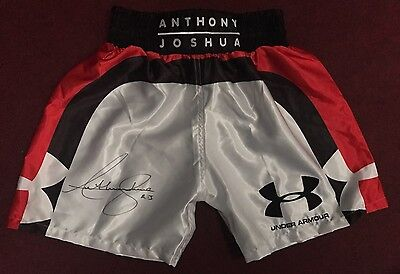 Anthony Joshua MBE Hand Signed Boxing Shorts IBF World Champion Proof COA