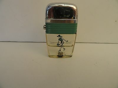 Vintage Scripto VU Lighter Lady Bowler with Teal Green Band