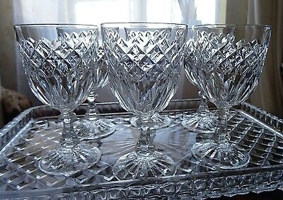 Set of 6 vintage small wine glasses port/sherry