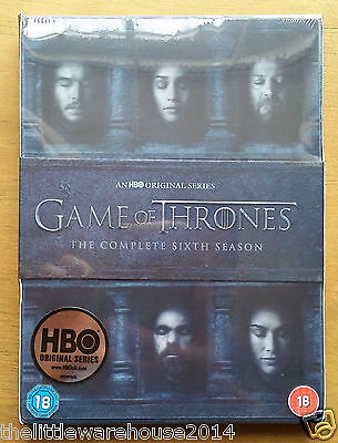 GAME OF THRONES The Complete Sixth Season DVD Series 6 Brand New UK Genuine