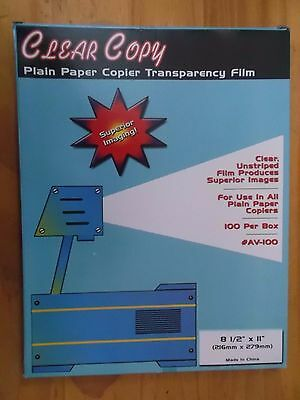 Cesar Copy 8 1/2 x 11 Plain Paper copier Transparency Film 100 sheets