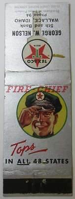 Texaco Fire Chief Matchbook Cover - Tops in all 48 States