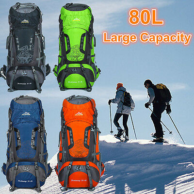 80L Large capacity BackpackS Travel Outdoor Camping Climbing Hiking Sports Bags