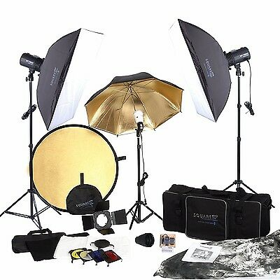 2 NEW IN BOX Square Perfect SP3500 Complete Portrait Studio Kit w/Flashes