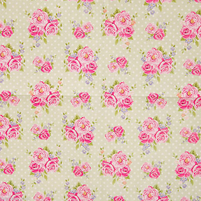 Floral Chintz Gift Wrap - Pack of 2 Sheets of Wrapping Paper with Tags