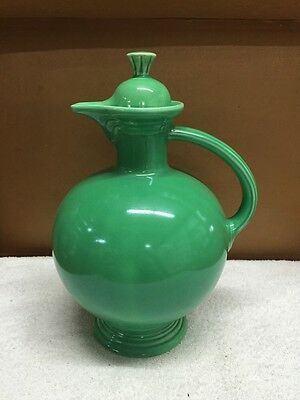Vintage Homer Laughlin Fiesta Green Carafe Pitcher With Lid