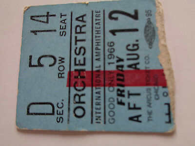The Beatles Concert Ticket Stub Chicago Ampitheatre Friday August 12Th 1966