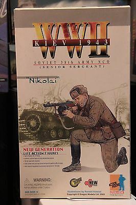 """Dragon Ww2 Russian Army Nco 1/6Th 12"""" Action Figure"""