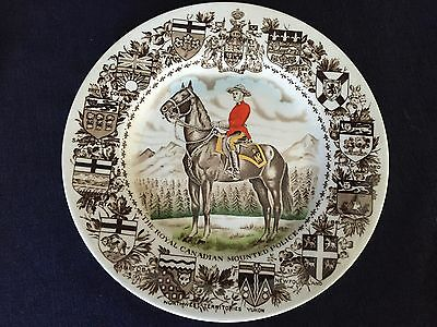 "Vintage Royal Canandian Mounted Police 10"" Collector Plate Wood & Sons England"