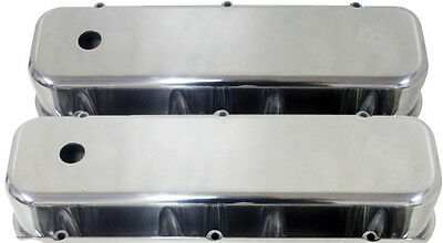 Monster Bb Chevy Polished Aluminum Tall Valve Covers Mep-3258
