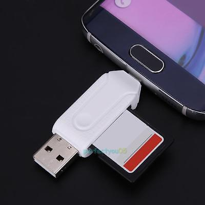 2 in 1 Multi-Function USB2.0 128GB OTG Card Reader TF/SD Card Reader Adapter New