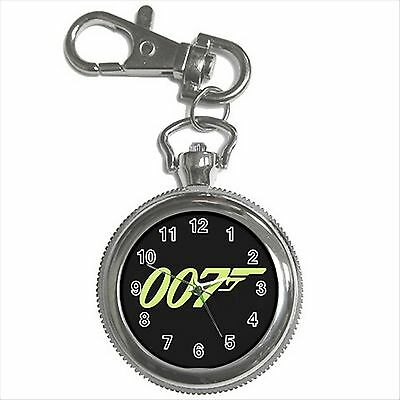NEW* HOT JAMES BOND 007 Silver Color Tone Key Chain Ring Watch Gift