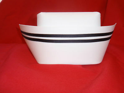 New Authentic Nurse Cap w/ Two Black Stripes Style/made & shipped USA
