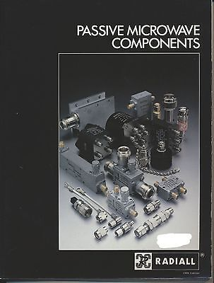Radiall Passive Microwave components 1986 catalogue and data A4 size