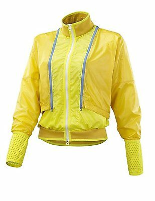 SPECIAL PRICE ONLY £24.99 ADIDAS by STELLA McCARNEY RUNNING JACKET YELLOW NYLON