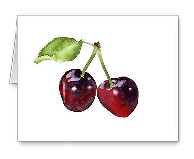 Cherries Note Cards With Envelopes