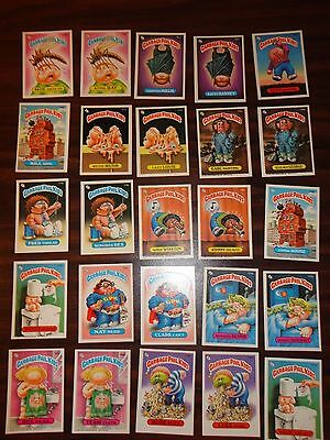 Lot of 25 1986 Garbage Pale Kids 5th Series Original Cards 169a-181a Xmas