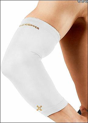 Tommie Copper Recovery Compression elbow Sleeve white- UNISEX - MEN -WOMEN-LARGE