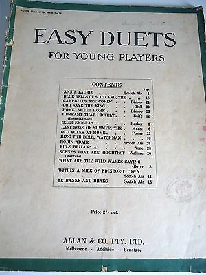 Easy Duets For Younger Players..piano..old Album..complete 16 Duets..allans