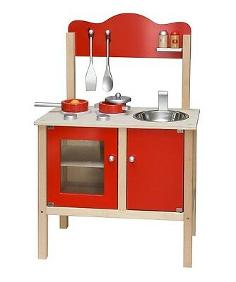 Viga Wooden RED Noble Kitchen With Accessories
