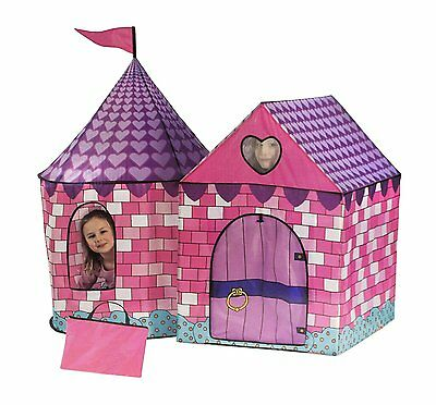 Pink Tent Princess House Castle Girls Playhouse Kids In/Outdoor Fairy Play New