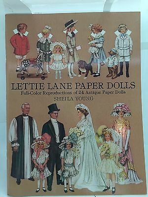 New Book Of Lettie Lane Paper Dolls By Sheila Young 24 Antique Paper Dolls