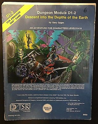 Dungeons and Dragons: Module D1-2: Decent into the Depths of the Earth DD