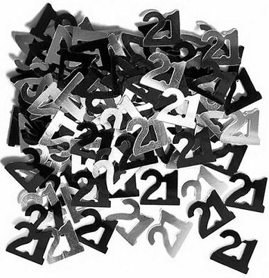 21st birthday party decorations Party Table Decoration Confetti Black And Silver