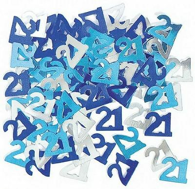 21st birthday party decorations Party Table Decoration Confetti Blue And Silver