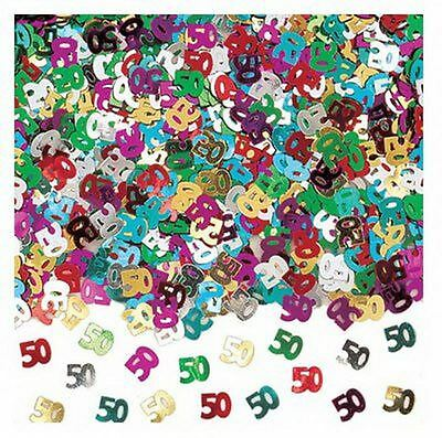 50th birthday party decorations Party Table Decoration Confetti Mix Colour