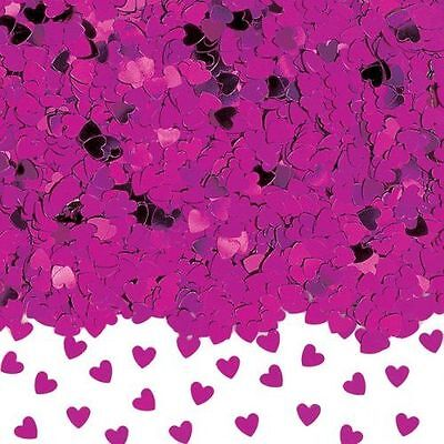 Heart Shaped Confetti Table Decoration - Hot Pink 14g