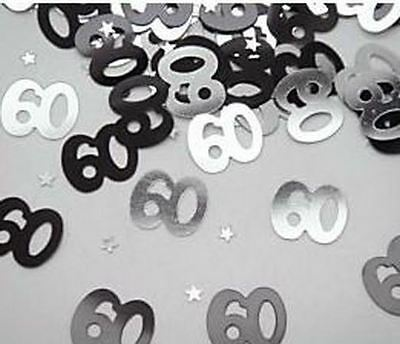 60th birthday party decorations Party Table Decoration Confetti Black And Silver