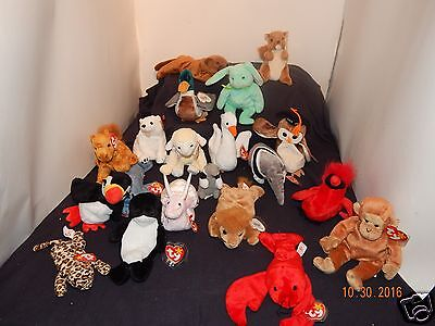 Wholesale Lot(20) Ty Beanie Babies Plush Collectibles Many Retired (Lot 2)